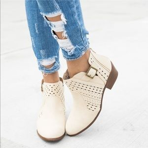 Gorgeous Booties with Laser Cut Detailing